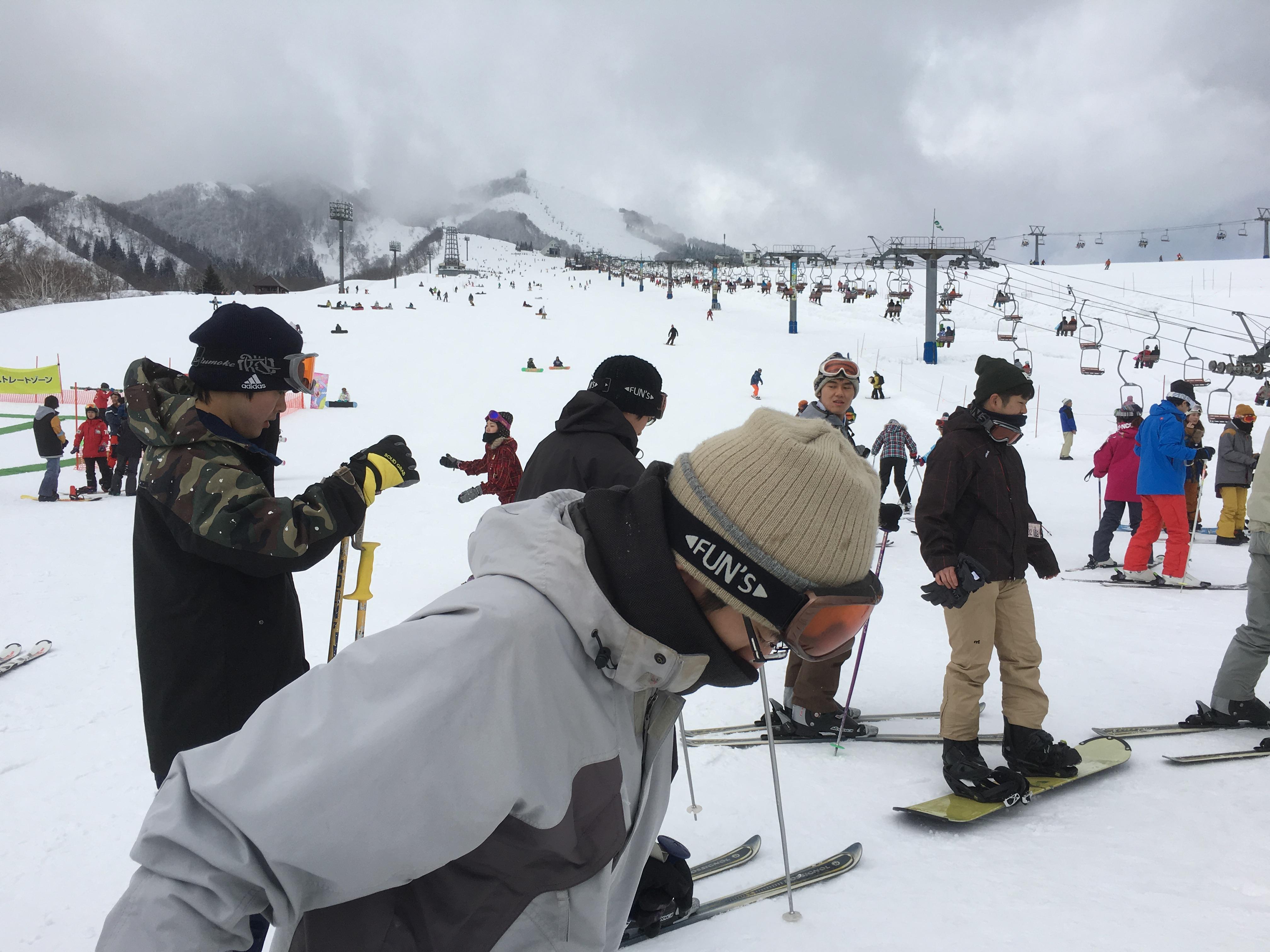 スキー板の講習